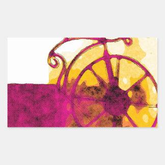 Cycle 2 rectangular sticker
