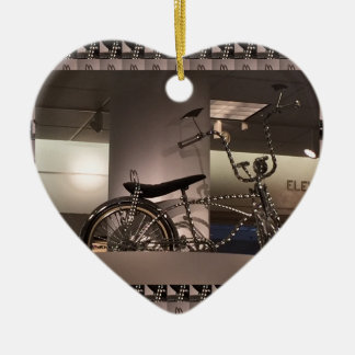 Cycle Bicycle art graphic deco template add text Ceramic Heart Decoration