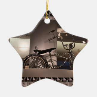 Cycle Bicycle art graphic deco template add text Ceramic Star Decoration