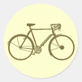 cycle: bike-image: cycling classic round sticker