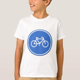 Cycle lane road sign UK T-Shirt