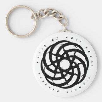 Cycle of Ages Saga: Black Logo, White Keychain