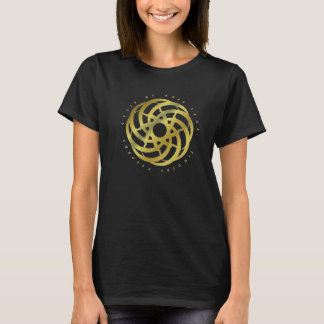 Cycle of Ages Saga: Gold Logo on Black (Women's T) T-Shirt