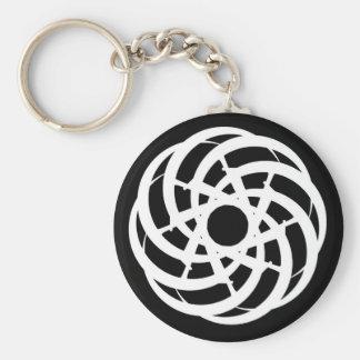 Cycle of Ages Saga: White Logo, Black Keychain