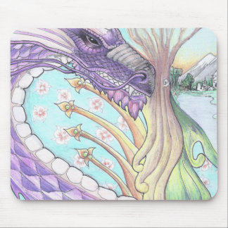 Cycle of Life Dragon Drawing Mouse Pad
