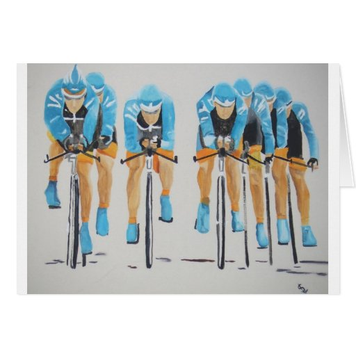 Cycle race greeting cards