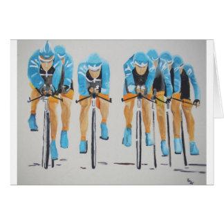 Cycle race greeting card