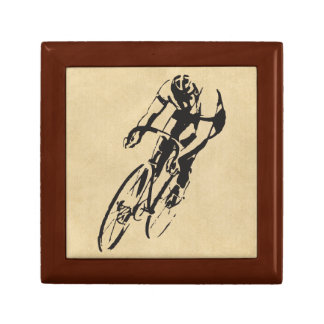 Cycle Racing Velodrome Small Square Gift Box