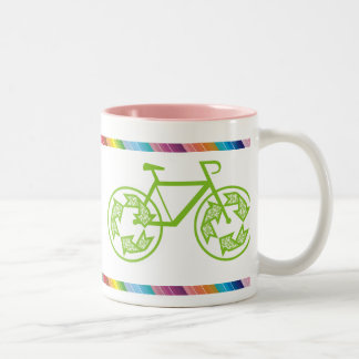 Cycle Recycle Two-Tone Coffee Mug