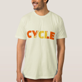 Cycle Text Design T-Shirt