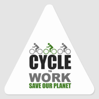 Cycle To Work Triangle Sticker