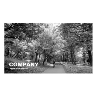 Cycle Way B&W Business Cards