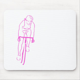 Cycle Woman Pink Mouse Pad