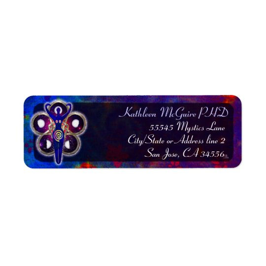 Cycles 3D Goddess Worship Return Address Label