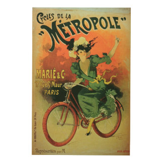 'Cycles de La Metropole', Marie & Co. (colour lith Wood Canvases
