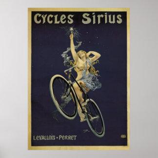 Cycles Sirius Vintage Bicycle Poster