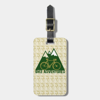 cycling adventure - bikes luggage tag