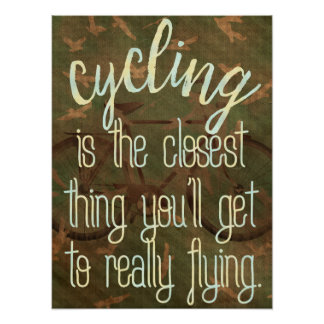 Cycling and flying poster