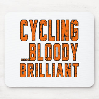 Cycling Bloody Brilliant Mouse Pads
