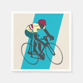 Cycling (Blue) Disposable Serviettes