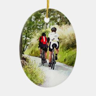 CYCLING CERAMIC ORNAMENT