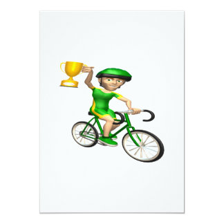Cycling Champion 2 13 Cm X 18 Cm Invitation Card