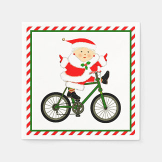 Cycling Christmas Paper Napkins