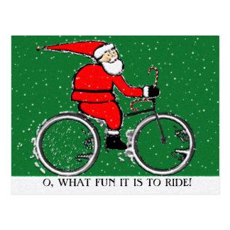 Cycling Christmas Postcard