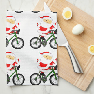 Cycling Christmas Tea Towel