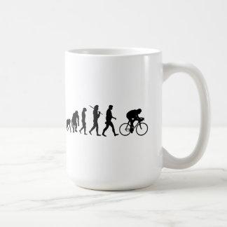 Cycling Cyclists evolution Bicycle Riders Cycle Basic White Mug