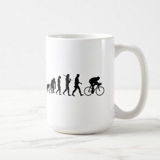 Cycling Cyclists evolution Bicycle Riders Cycle Coffee Mug
