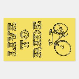 Cycling design, live to ride rectangular sticker