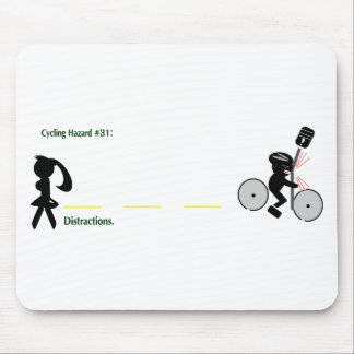Cycling Hazard: Distractions Mouse Pad