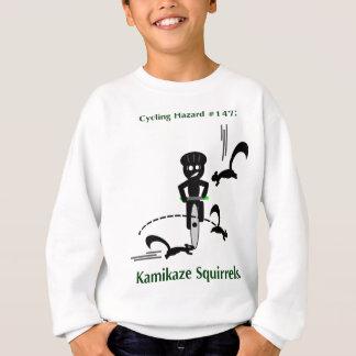 Cycling hazard: kamikaze squirrels sweatshirt