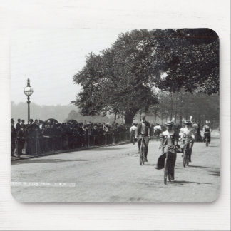 Cycling in Hyde Park, c.1910 Mouse Pad