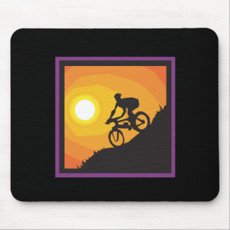 Cycling Into The Sunset Mouse Pad