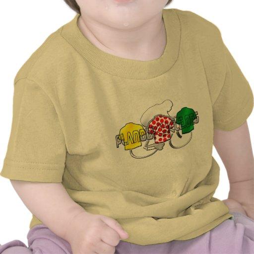 Cycling Jerseys Yellow Green and Red Polka Dot T-shirts