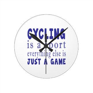 CYCLING JUST A GAME WALLCLOCK