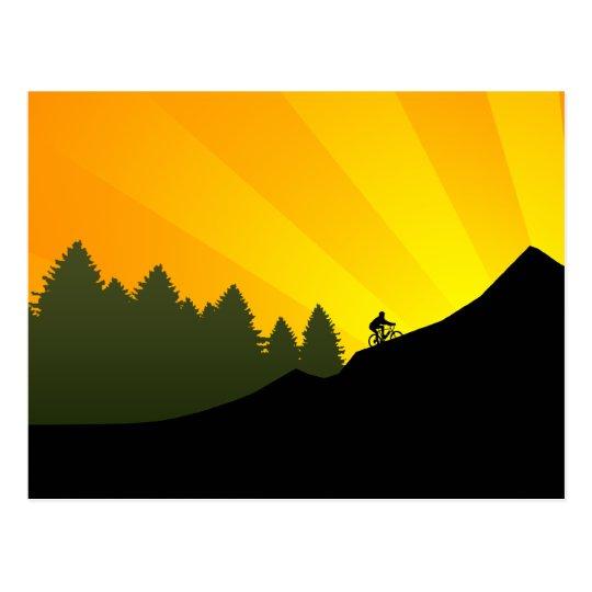 cycling : mountain rayz : postcard
