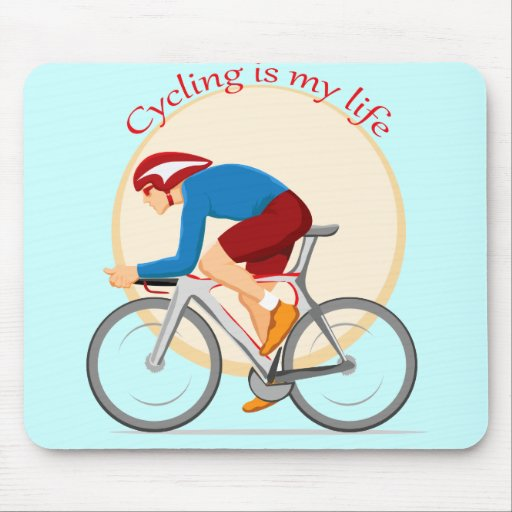 Cycling mouse pad.