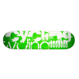 Cycling; Neon Green Stripes 19.7 Cm Skateboard Deck