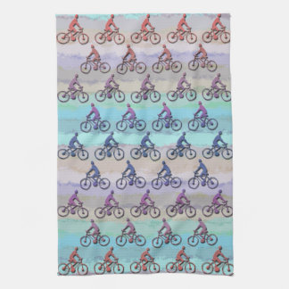 CYCLING PATTERN TEA TOWEL