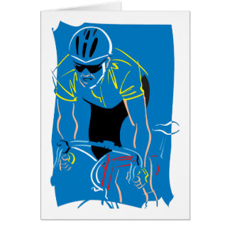 Cycling Racer Card