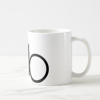cycling racing bicycle classic white coffee mug