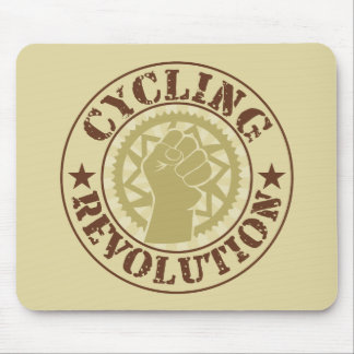 Cycling revolution badge mouse pad