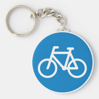 Cycling Road Sign Keychain