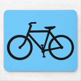 cycling silhouette mouse pad