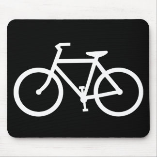 cycling silhouette mousepads