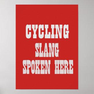 Cycling slang poster