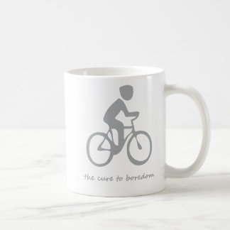 Cycling.......the cure to boredom mug